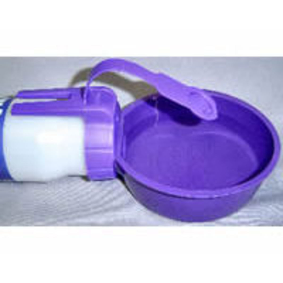 Water Rover bowl fills easily and the water tilts back into the bottle when your dog is finished with his drink.