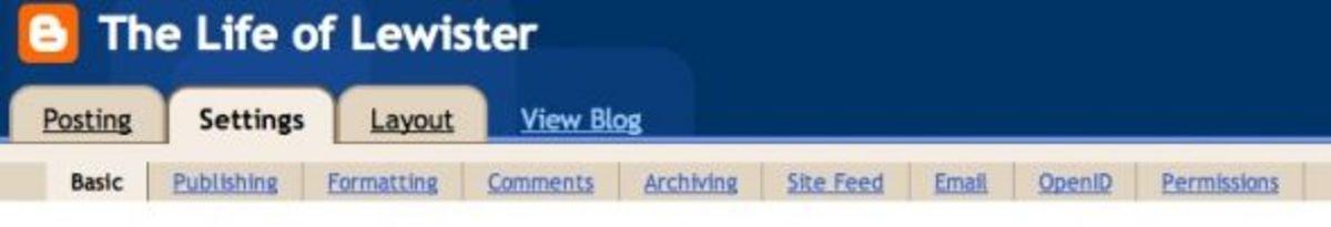 Blogger Tabs