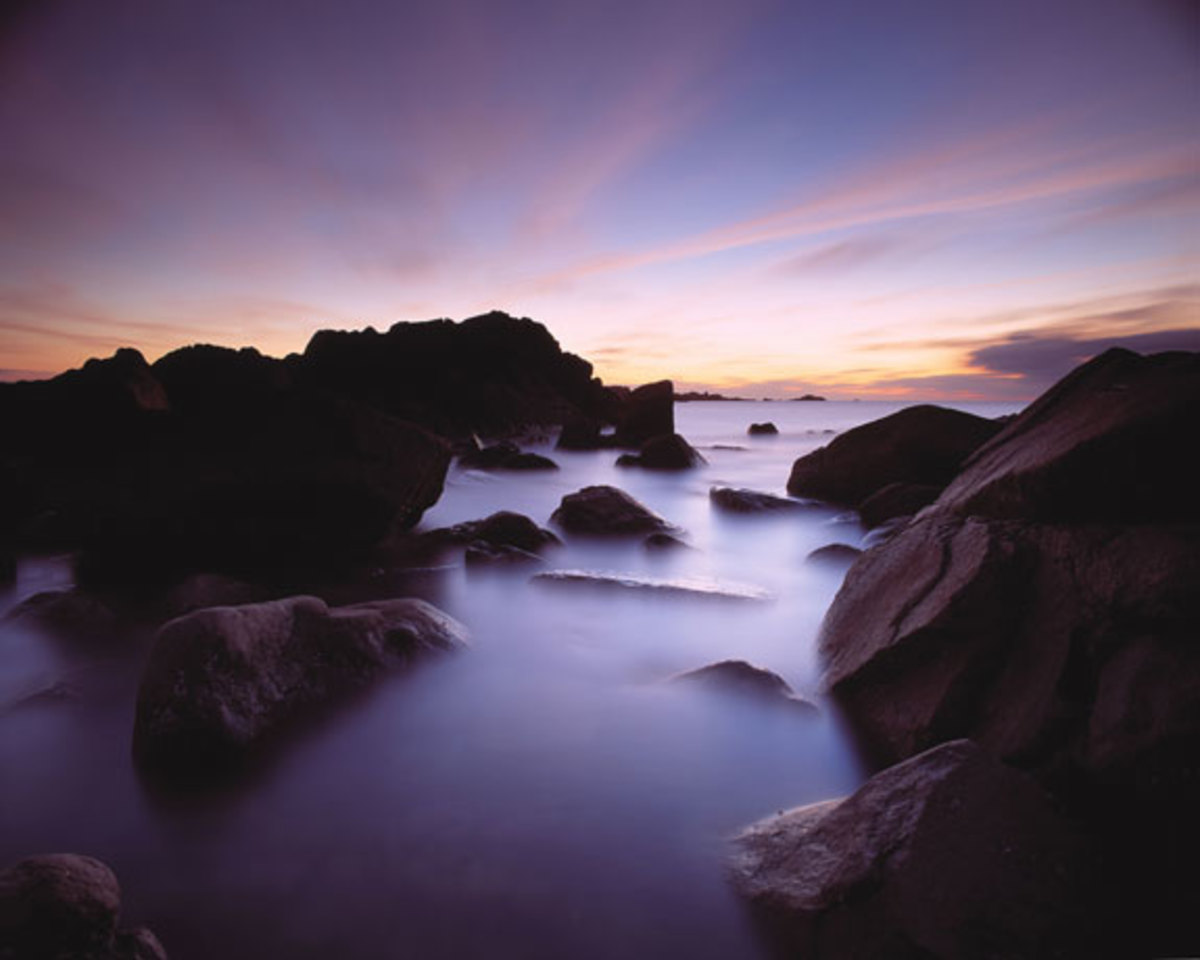 Rocks at Sunset in Herm