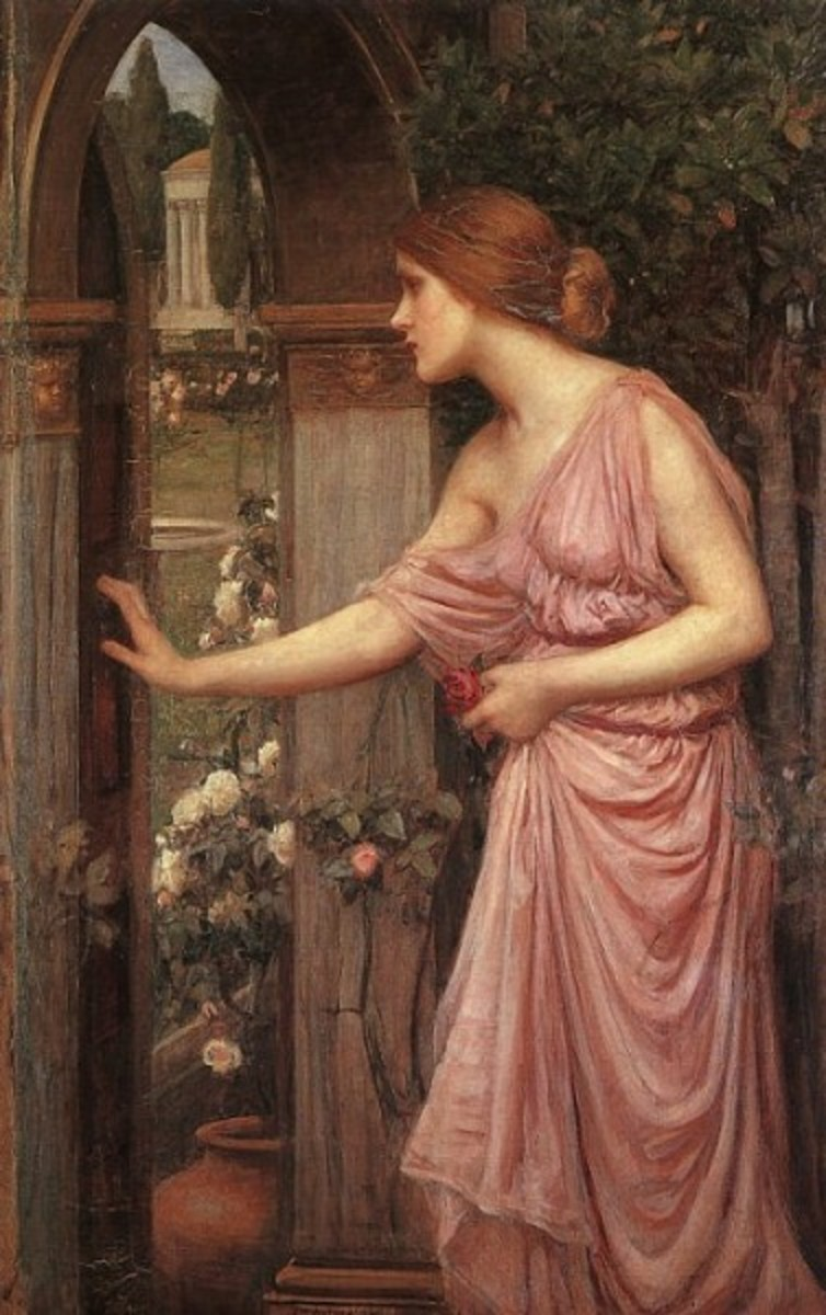 Psyche Opening the Door into Cupid's Garden, by John William Waterhouse (1904)