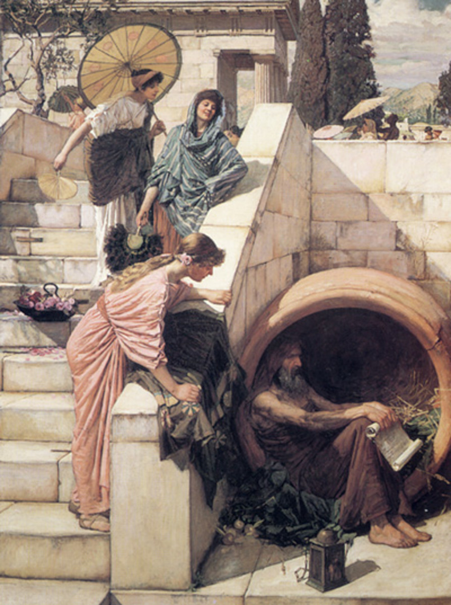 'Diogenes' by John William Waterhouse, 1882