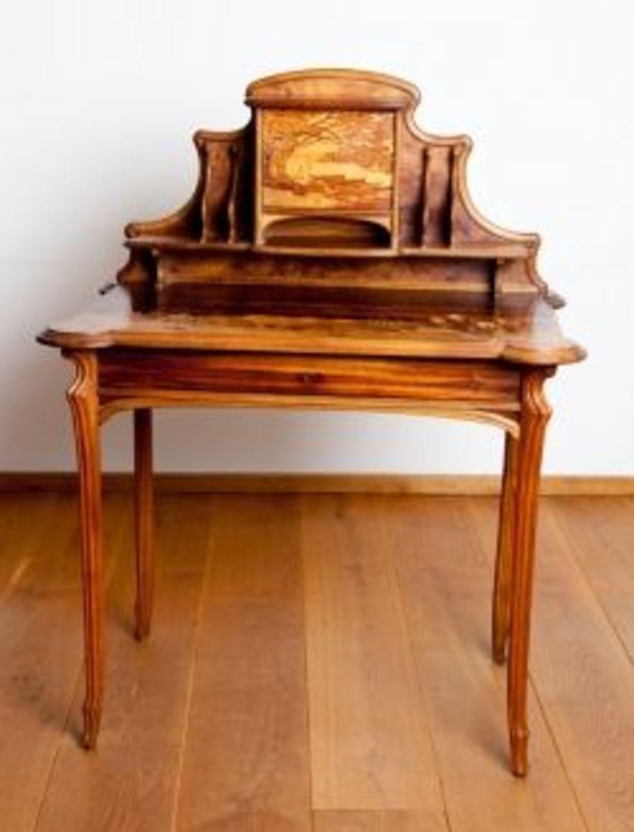 Exotic wood writing desks