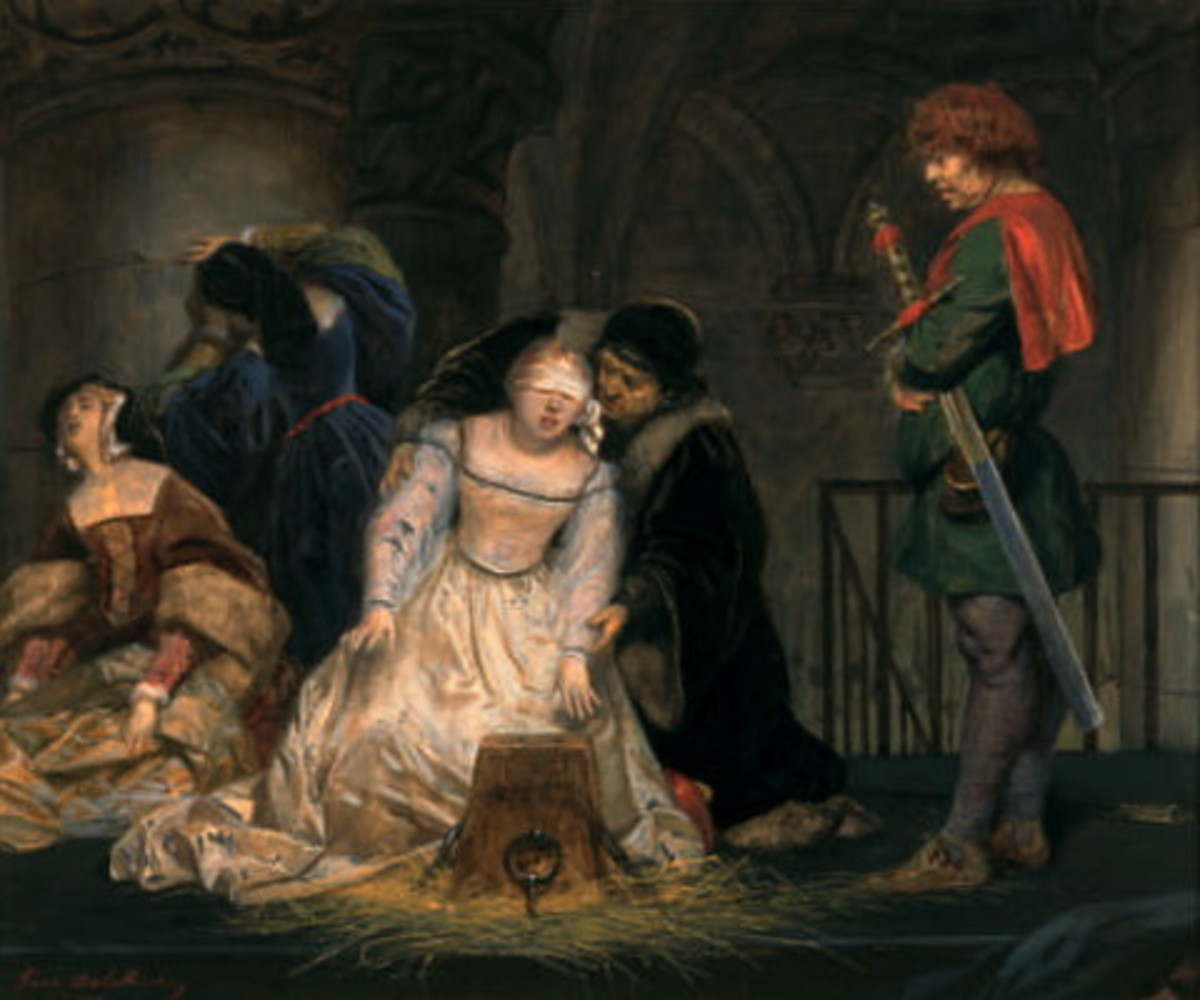 The young Lady Jane Grey, queen for just nine days, was beheaded in the Tower of London
