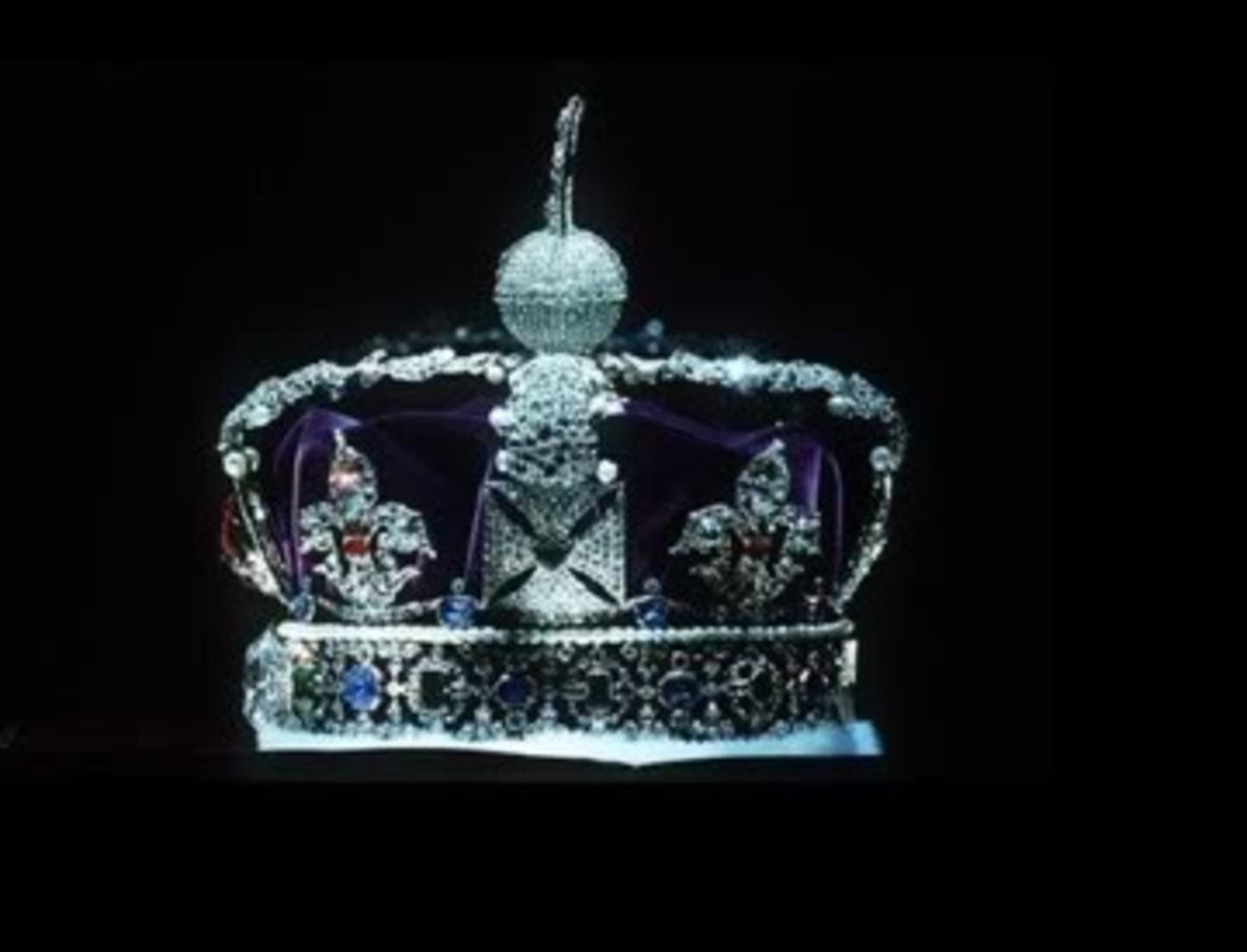 The Imperial State Crown part of the Crown Jewels  in the Tower of London