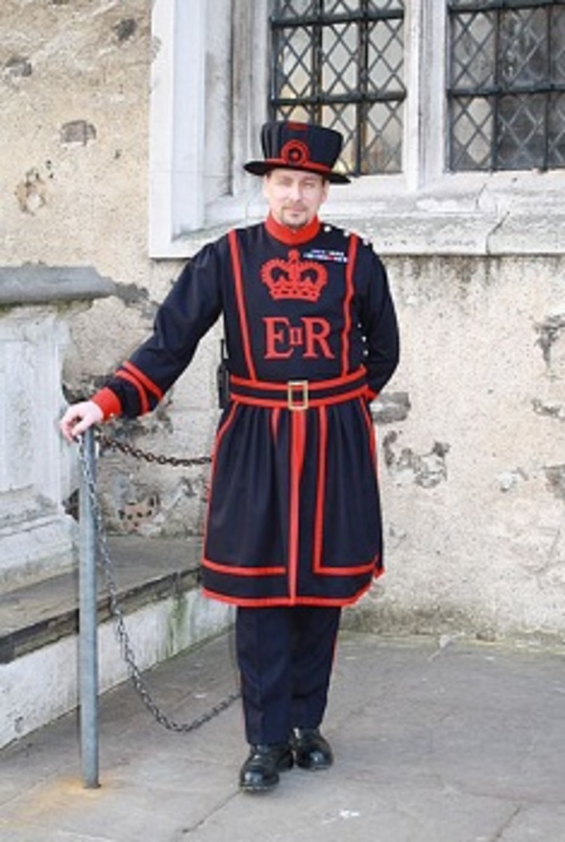 Yeoman Warder (Beefeater) in the Tower of London