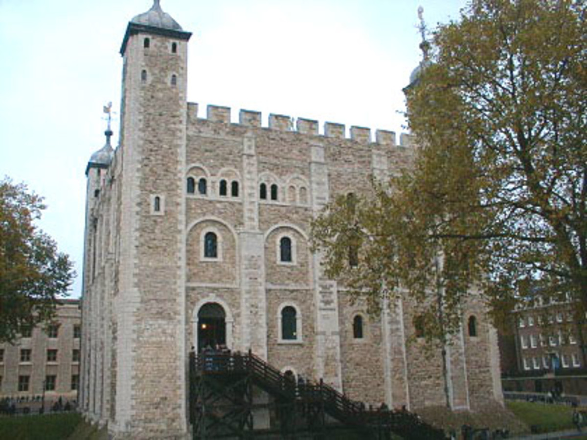 The White Tower - the oldest part of the Tower of London -