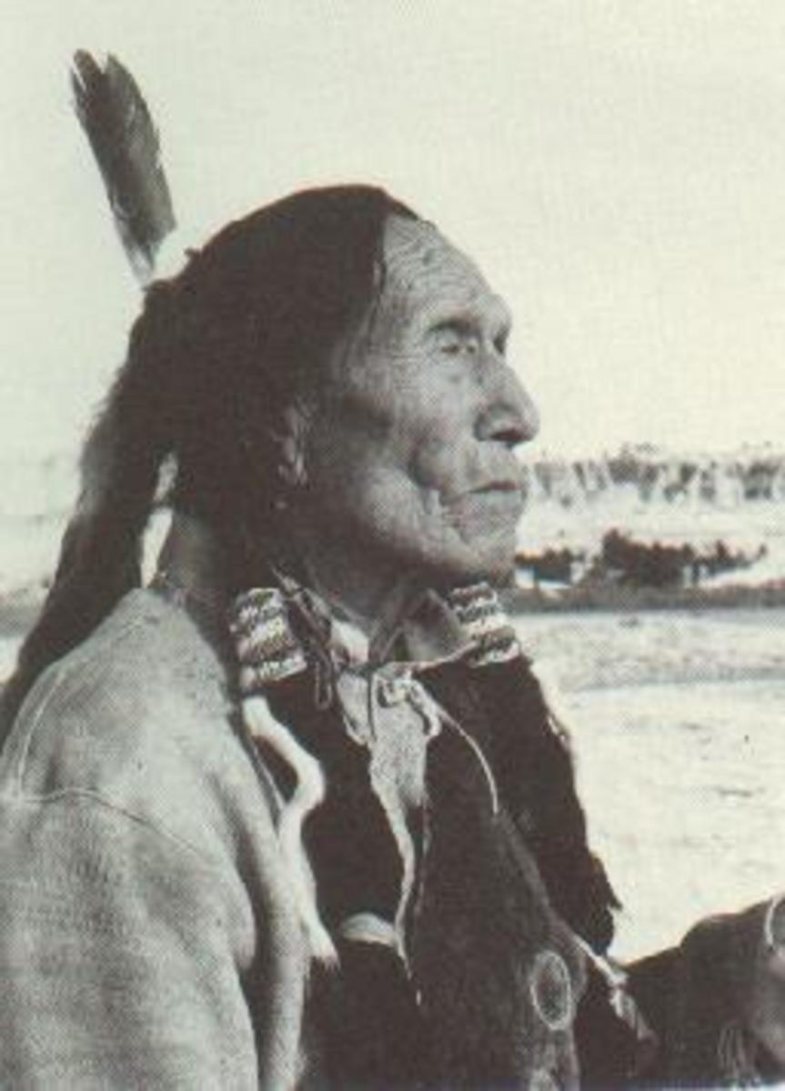 Nicholas Black Elk [Hehaka Sapa] (c. December 1863 – 17 August or 19 August 1950) was a famous Wichasha Wakan (Medicine Man or Holy Man) and Heyoka of the Oglala Lakota (Sioux). He participated at about the age of twelve in the Battle of Little Big H