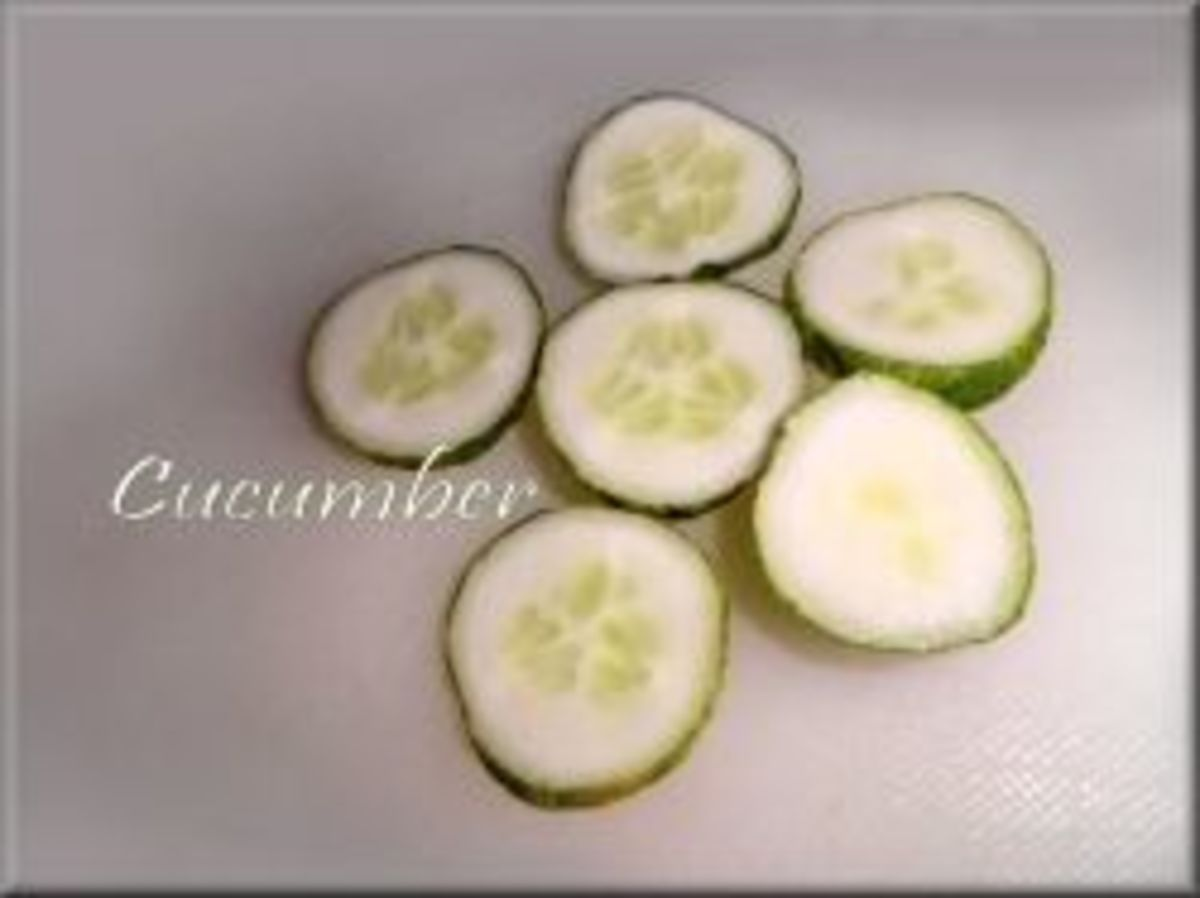 Sliced Cucumber Repels Yellow Jackets photo by Tonie Cook