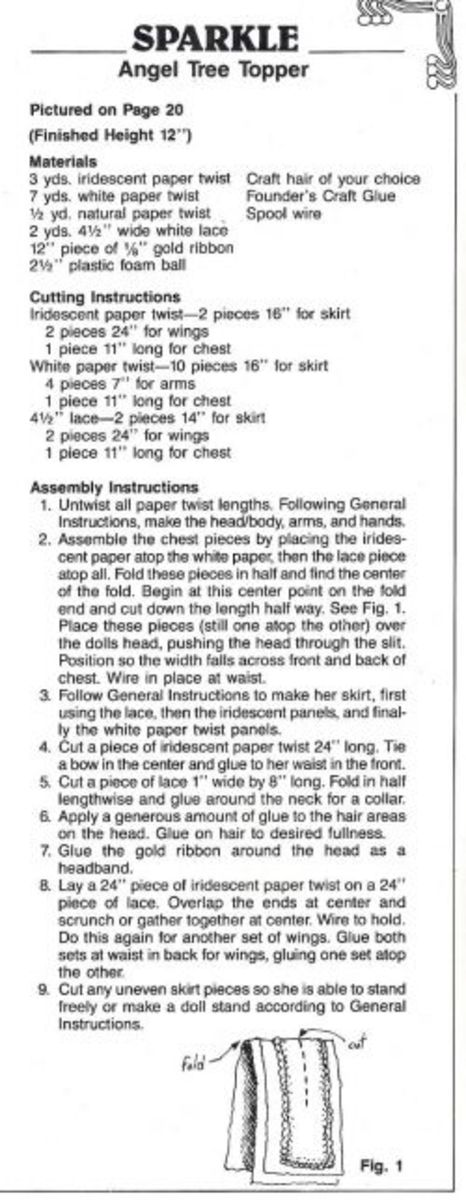 Sparkle Angel Instructions