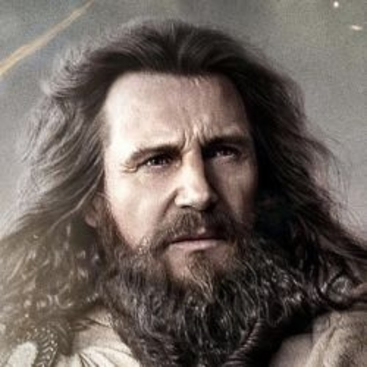 Zeus portrayed by Liam Neeson