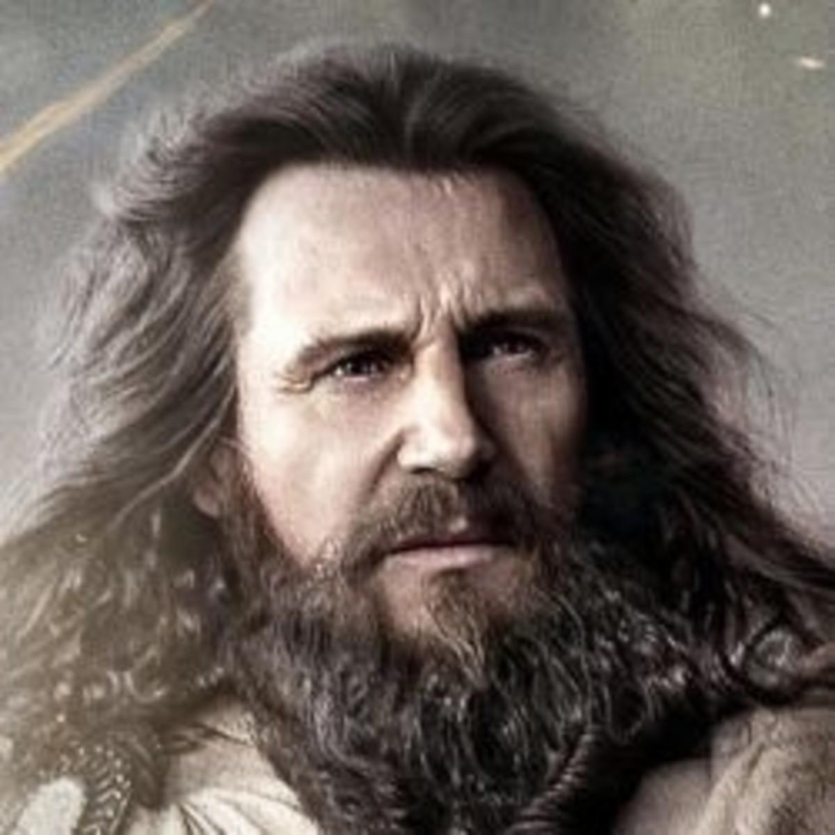 Zeus portrayed by Liam Neeson