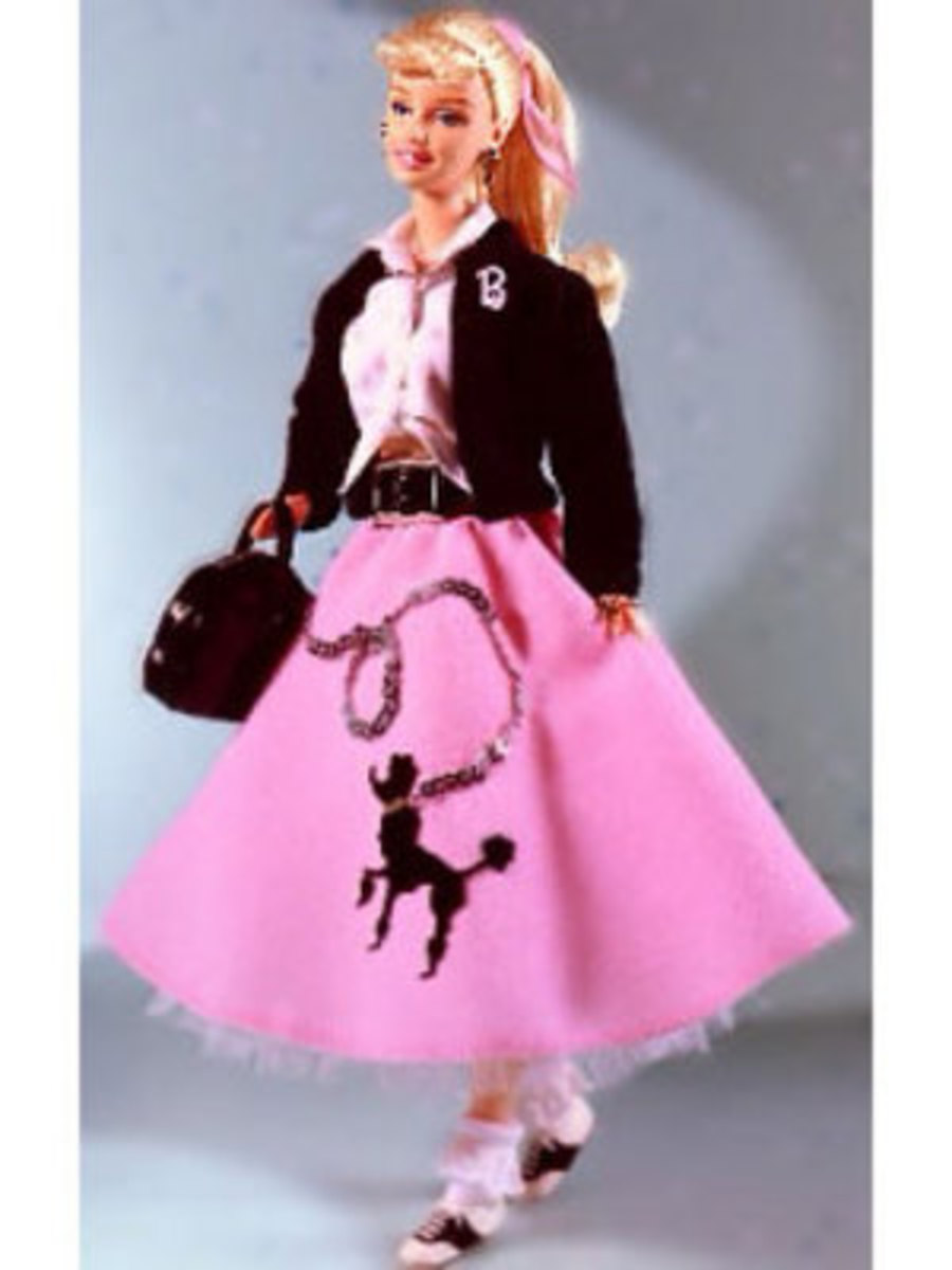 1950 in Poodle Skirt the Sock Hop