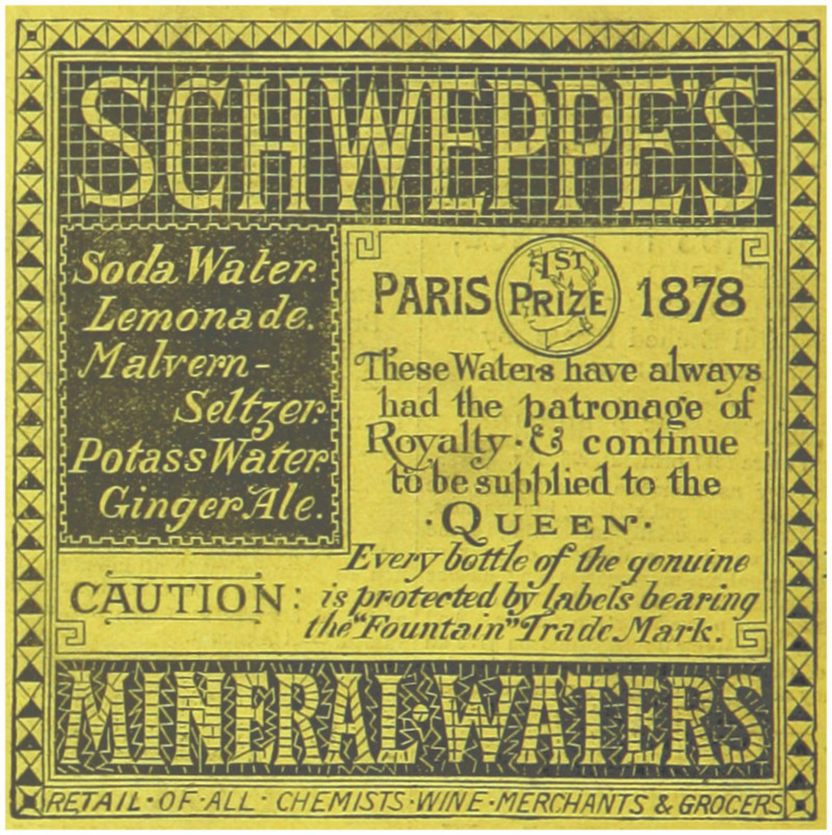 Schweppes made its first lemony beverages in 1883!