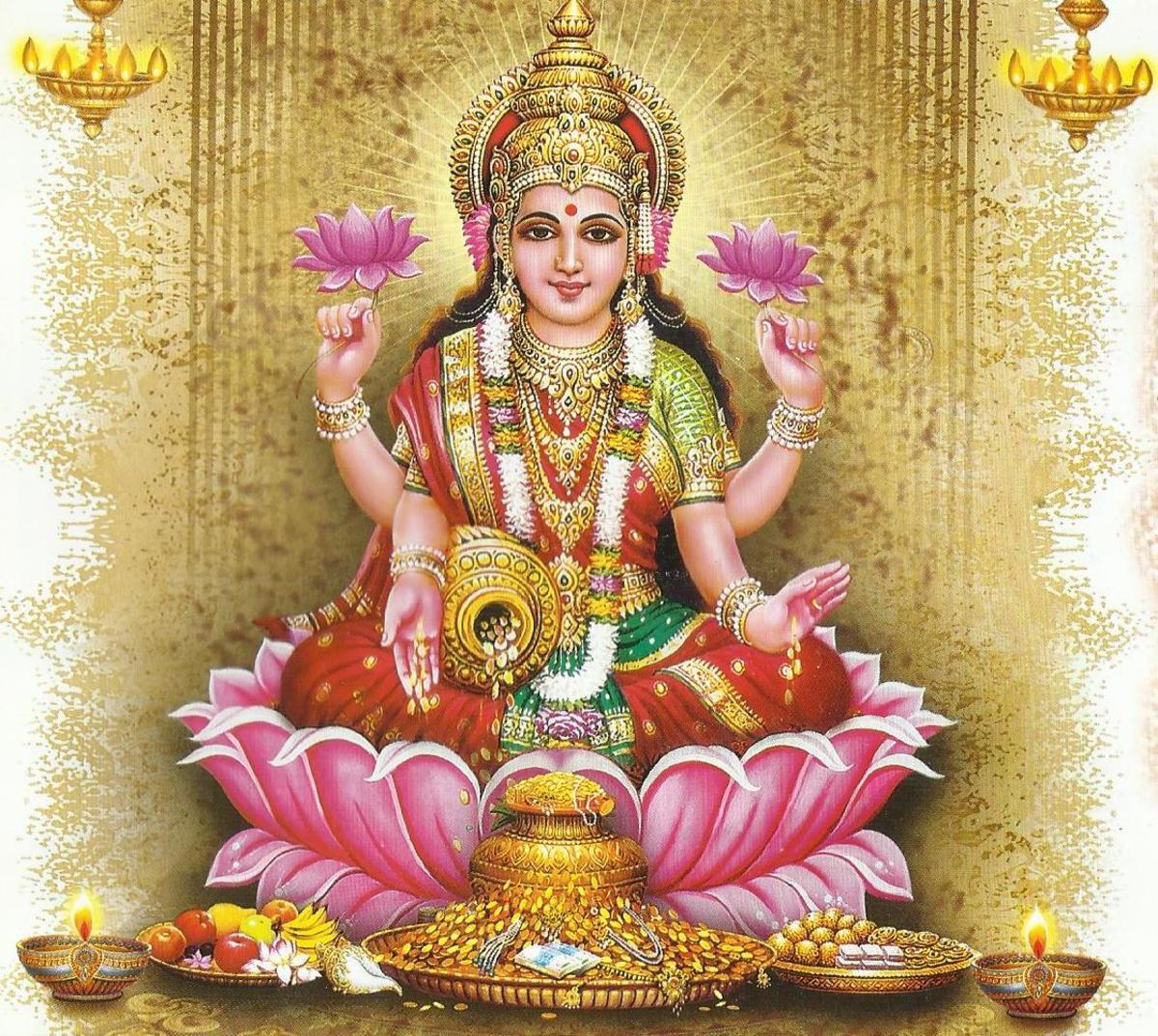 Mantras of Goddess Lakshmi for Wealth