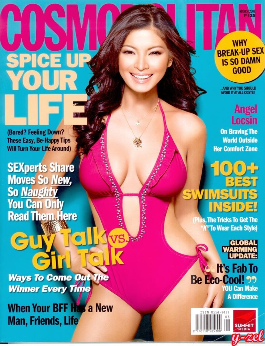 Angel Locsin's 3rd Cover for Cosmopolitan Magazine (April 2008 Issue)