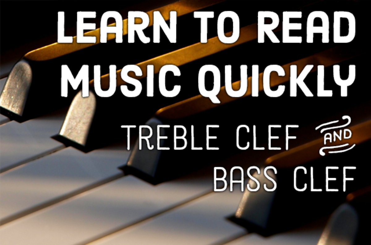 Learn to read piano music quickly—both treble clef and bass clef.