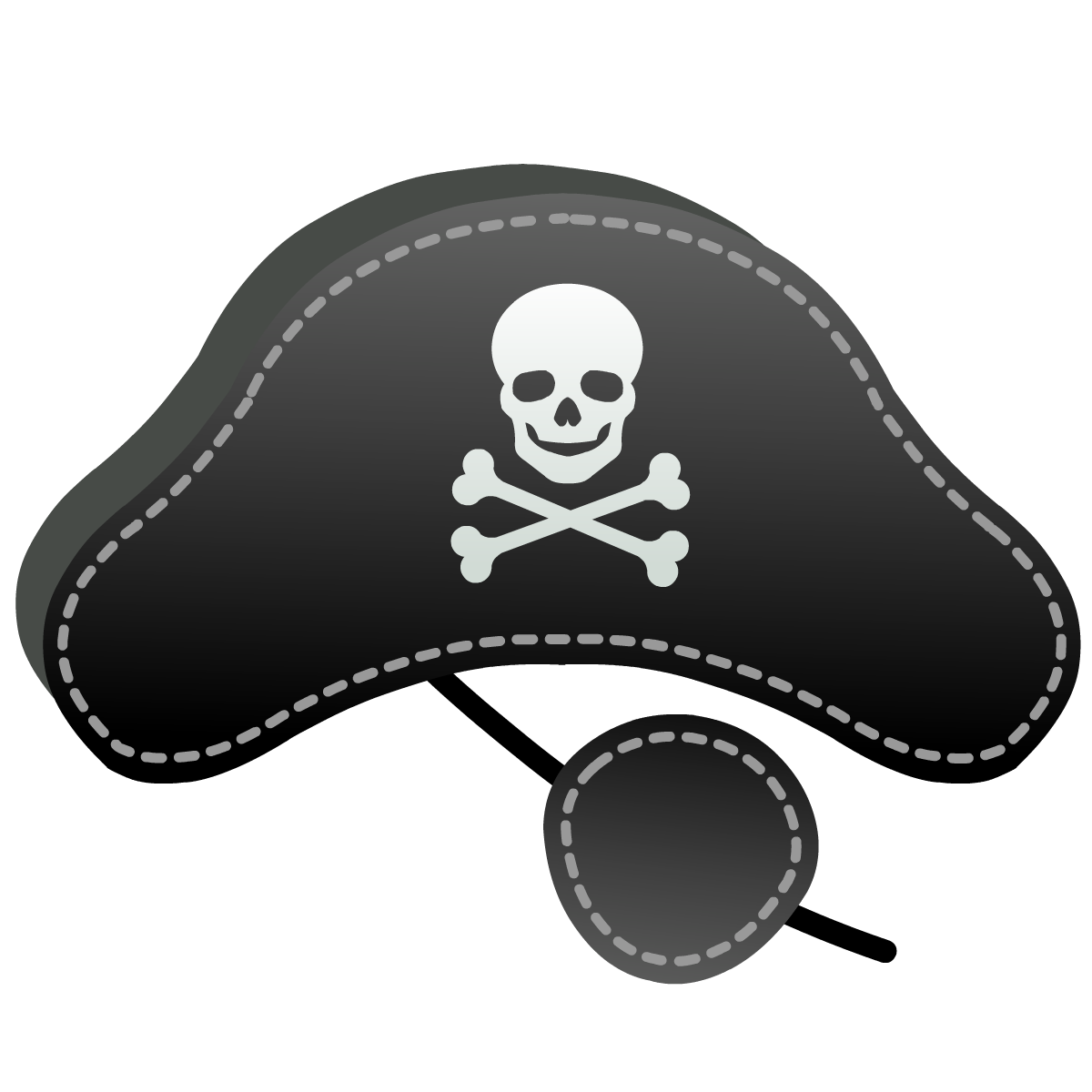 Free pirate hat and eye patch