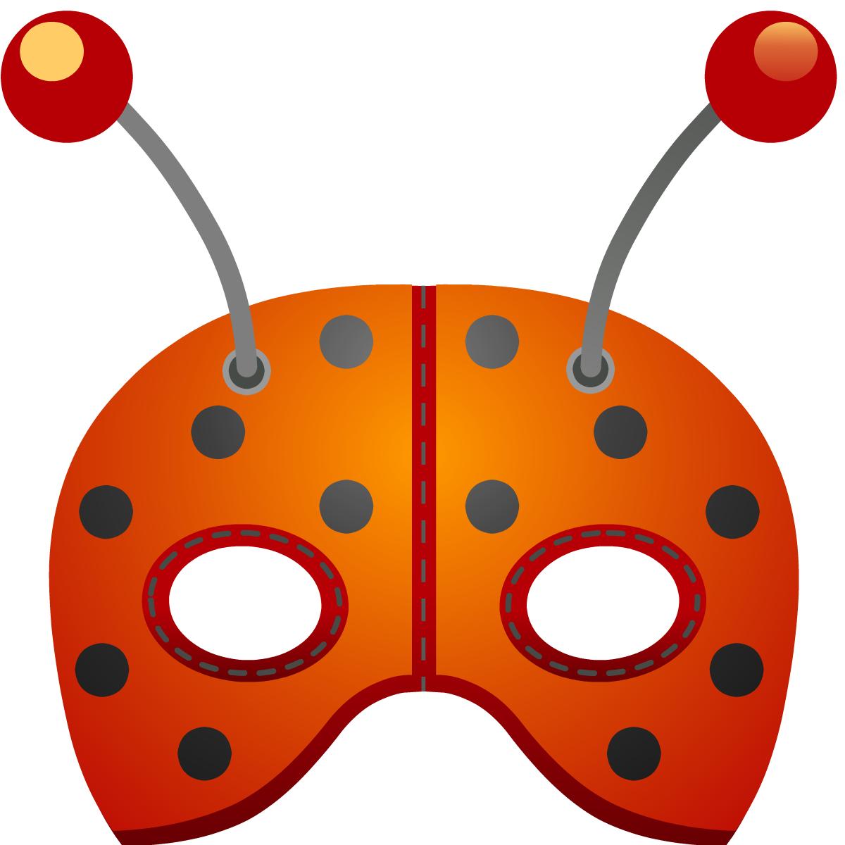 Ladybug mask for Make your own halloween mask online