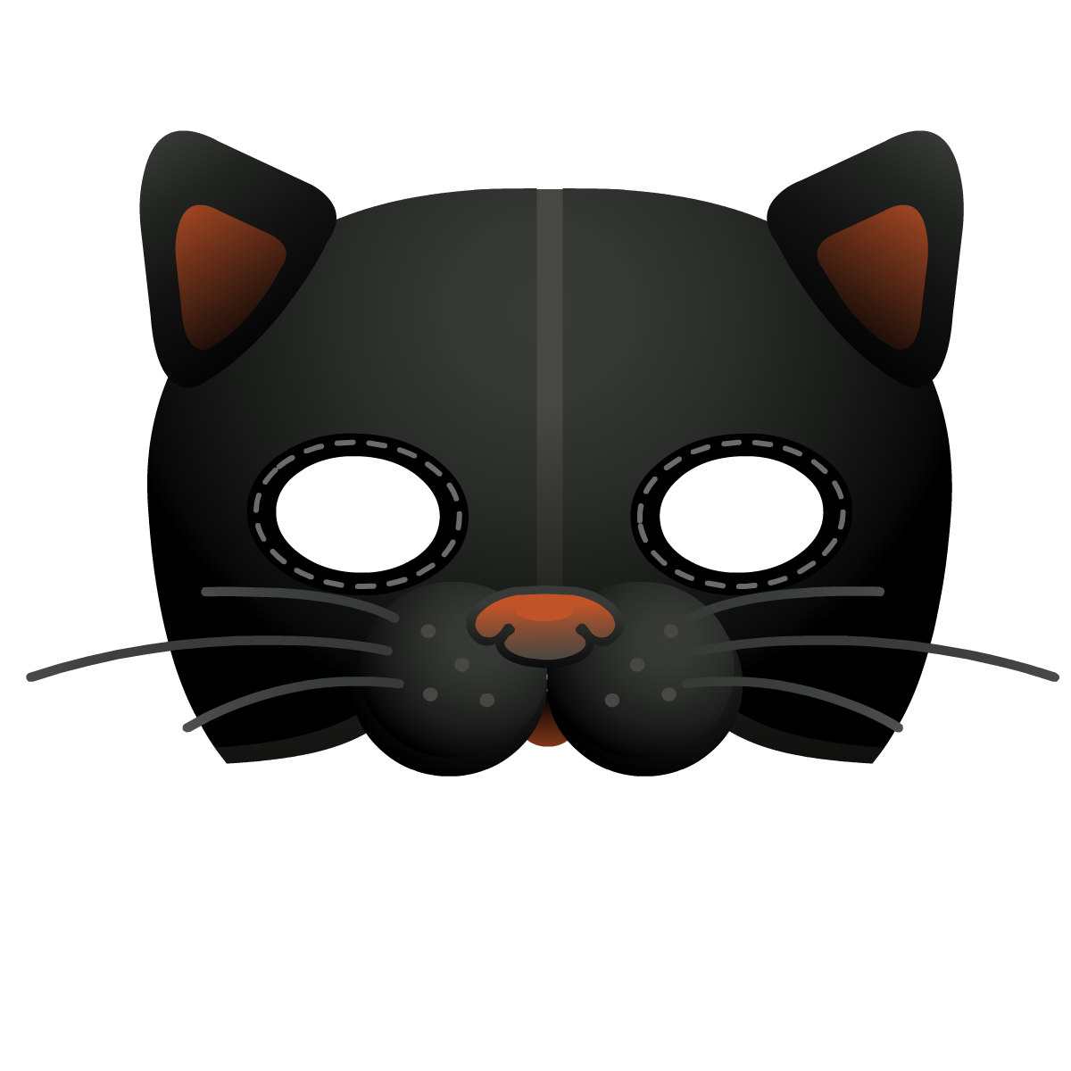 Cat mask template
