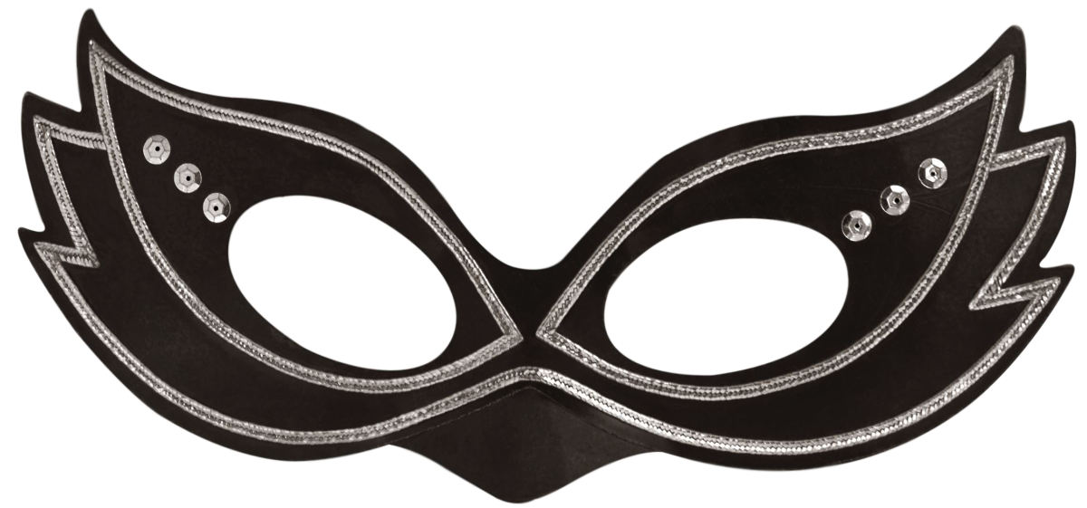 Free Mardi Gras cat eyes half-mask