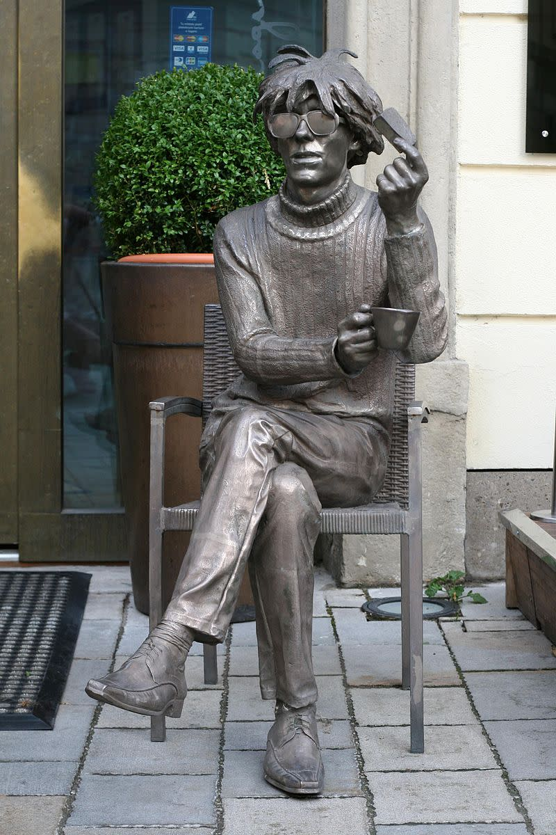 Statue of Andy in Slovakia