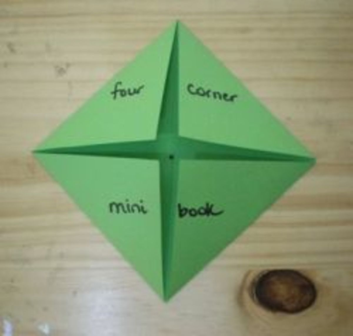 How to Make a Four Corner Minibook
