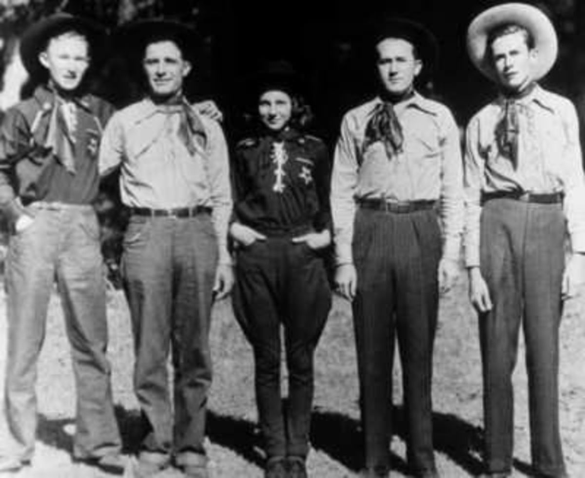 1939. Hank Williams (on the far right) with The Drifting Cowboys when he was 14 years old