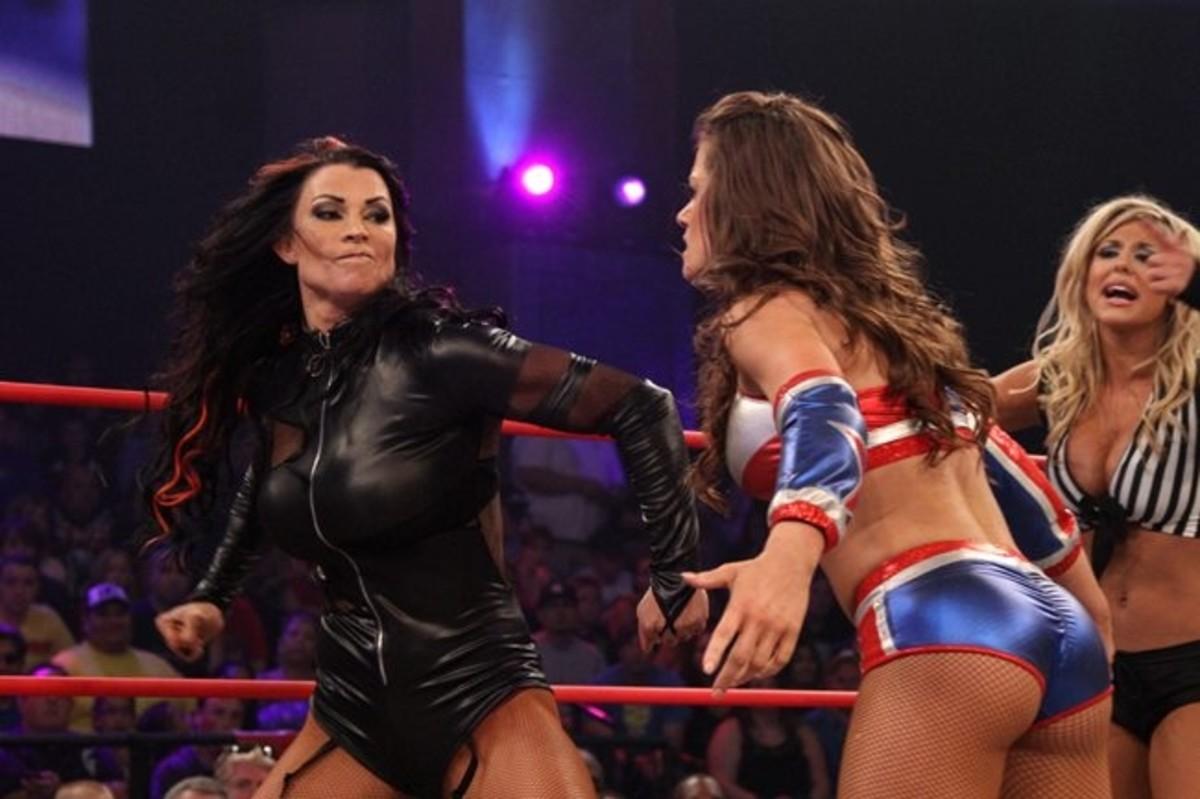 Tara about to belt Brooke