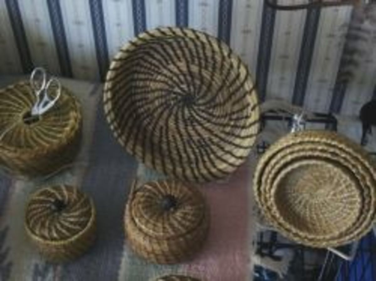 Pine Needle Baskets by Nara White Owl
