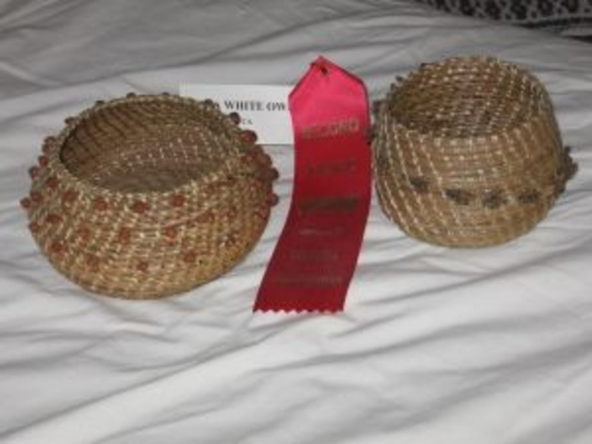 Second Place Pine Needle Baskets