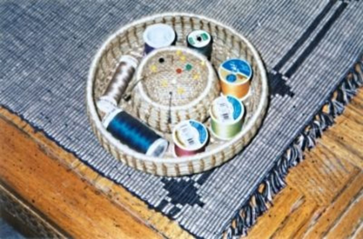 Pine Needle Sewing Basket____ My Most Popular One