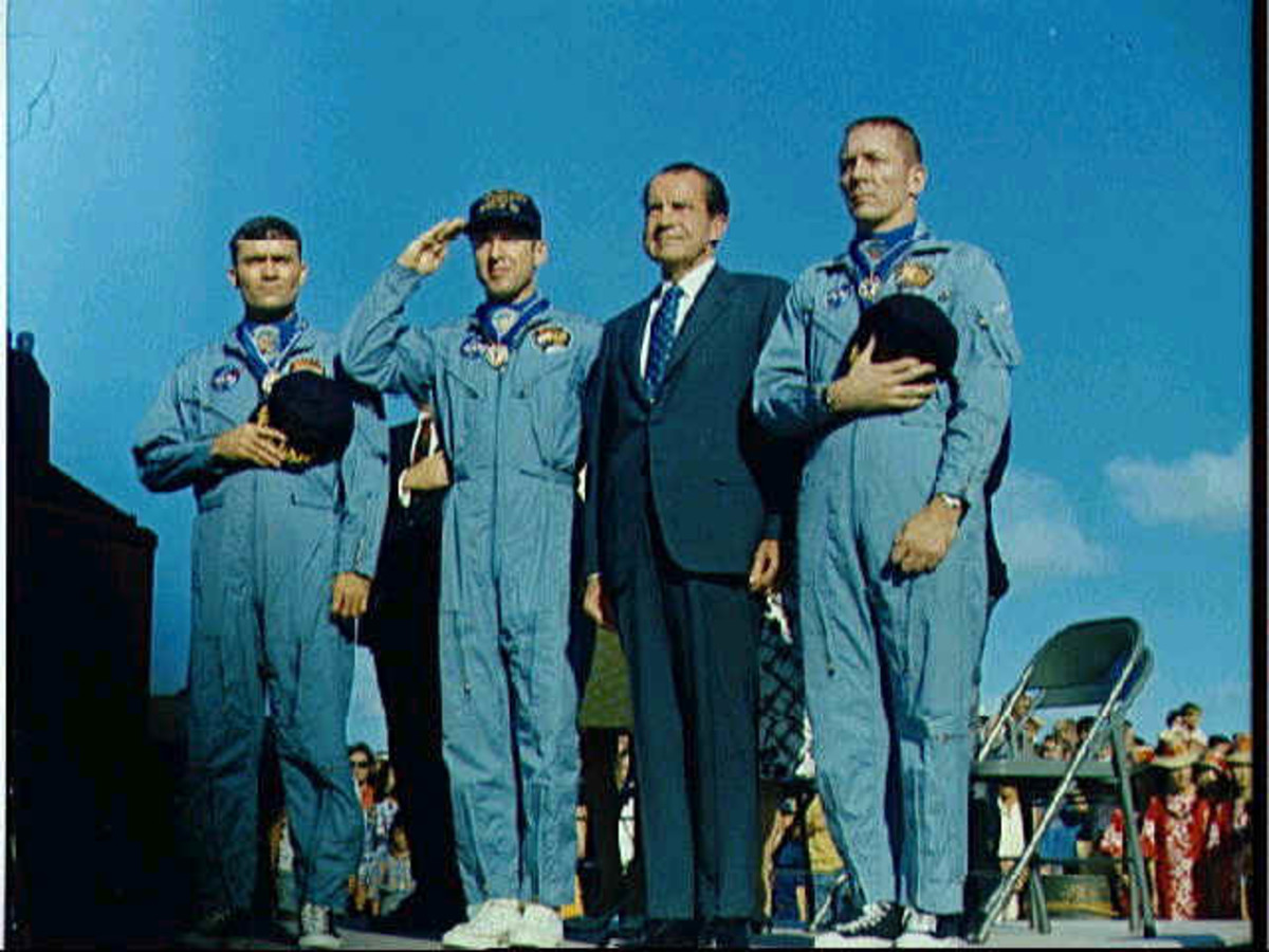 Medal of Freedom ceremony with President Richard M. Nixon.