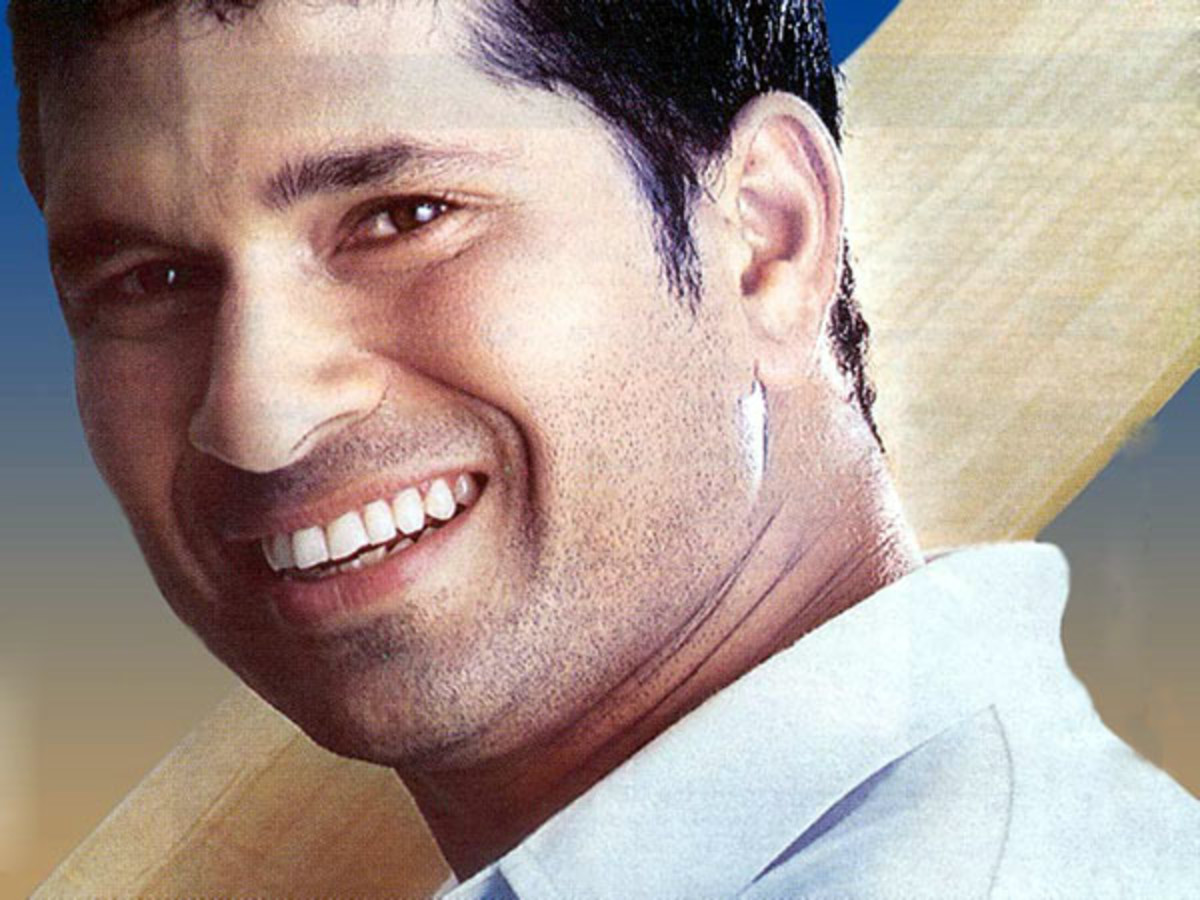 Sachin -- awesome hunger for runs behind this cute smiling face