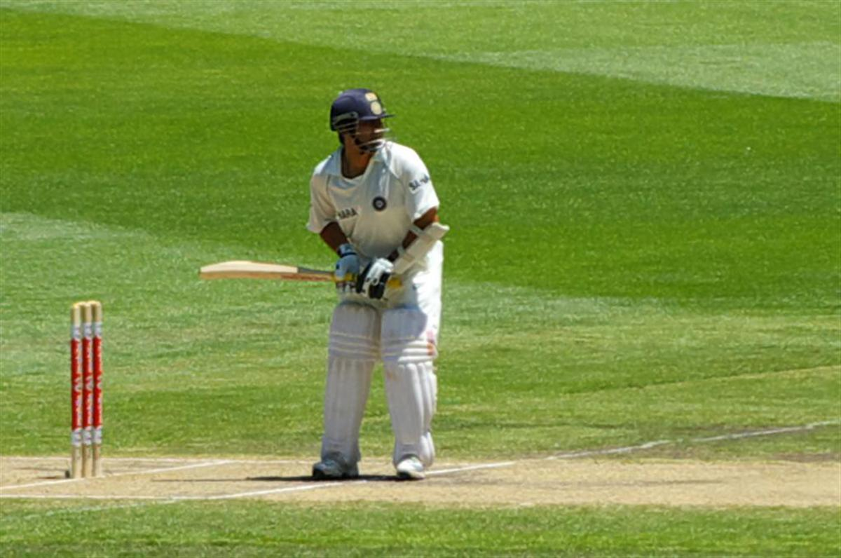 Sachin   --busy at the crease