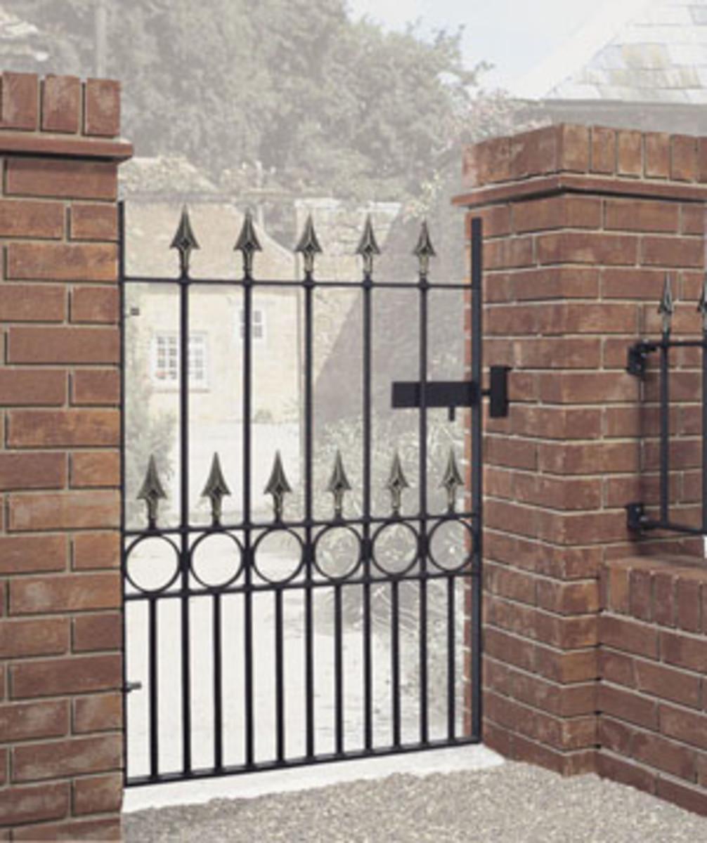 Wrought Iron gates - Single iron gates - Balmoral gate