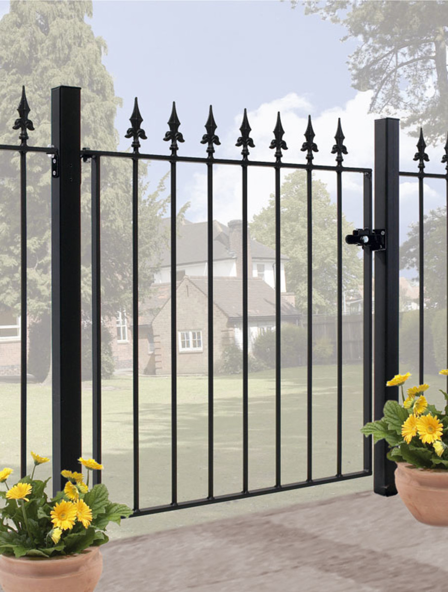 Wrought Iron gates - Single iron gates - Saxon gate