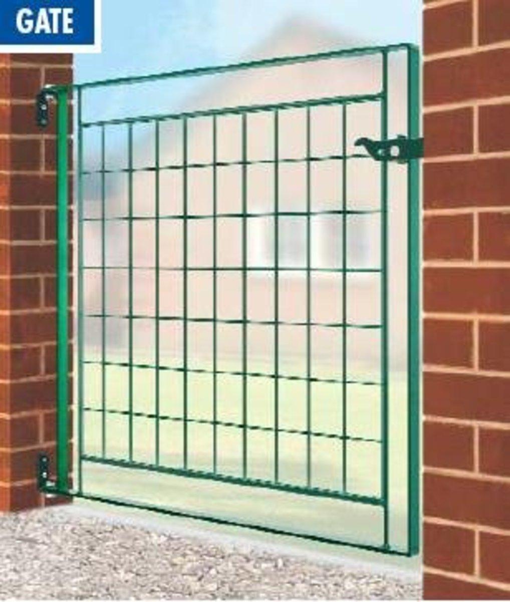 Wrought Iron gates - Single iron gates - Newark mesh gate