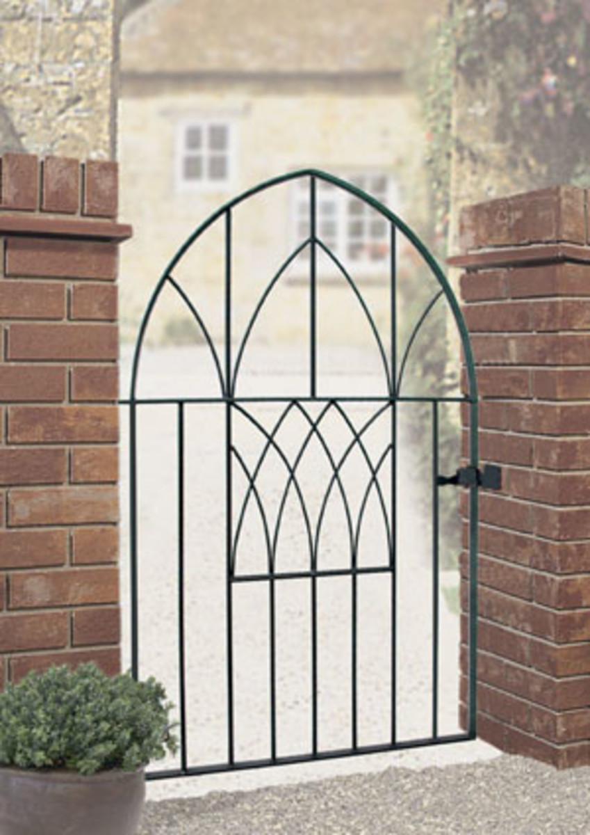 Wrought Iron gates - Single iron gates - Abbey low bow gate