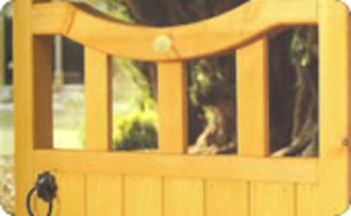 Wooden gates - Single wooden gates - Derbyshire gate