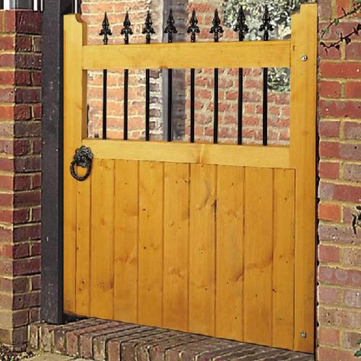 Wooden gates - Single wooden gates - Vertifleur gate