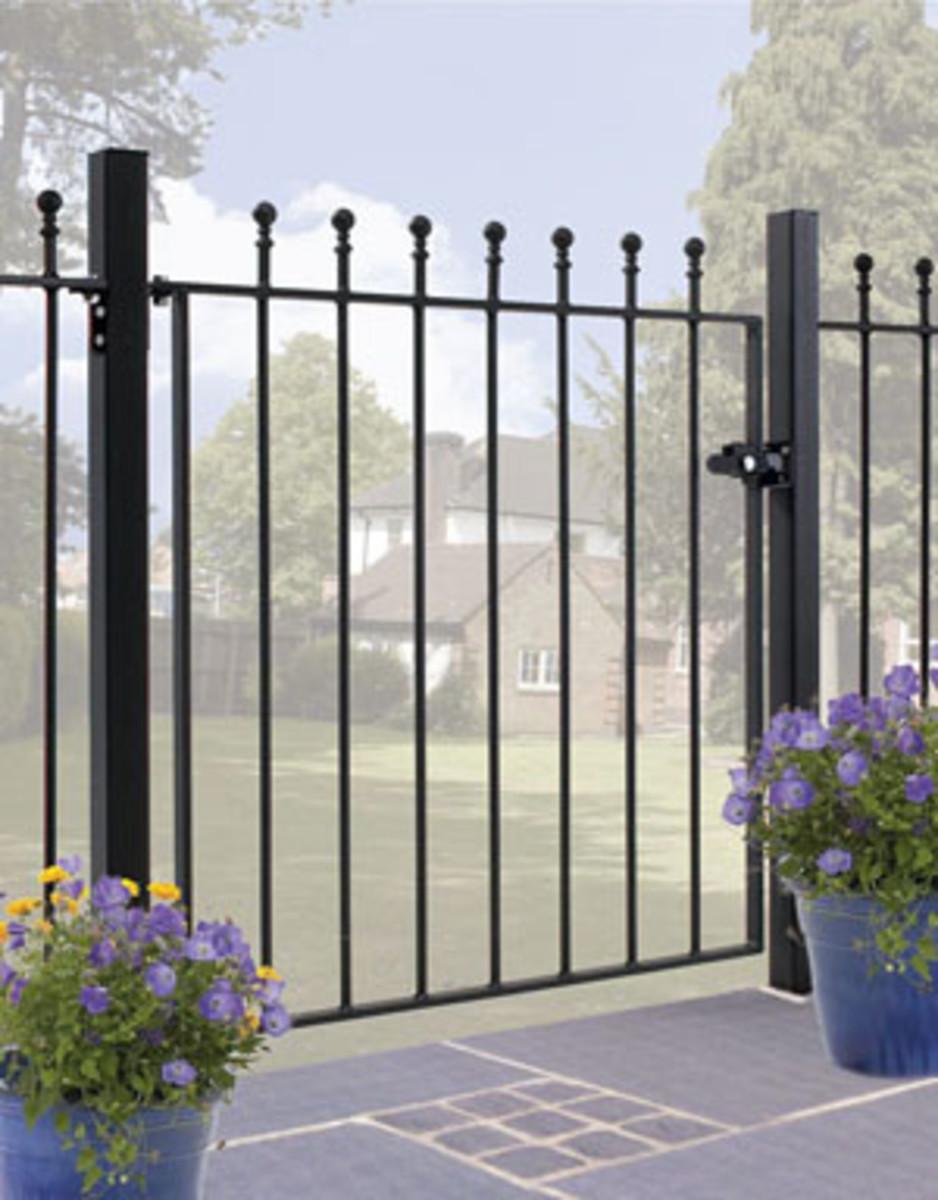 Wrought Iron gates - Single iron gates - Manor gate
