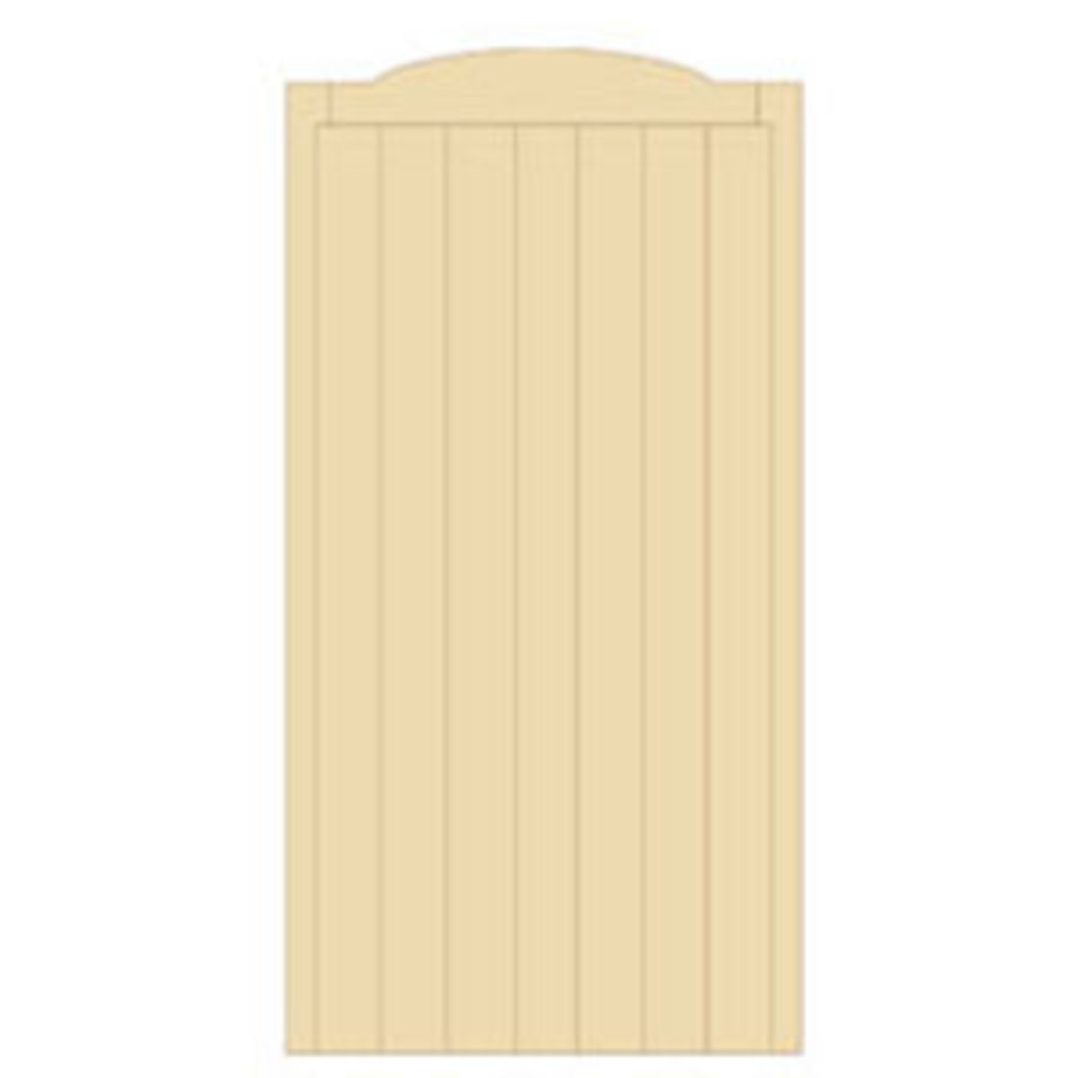Wooden gates - Tall single side entrance wooden gates - Cherbourne gate
