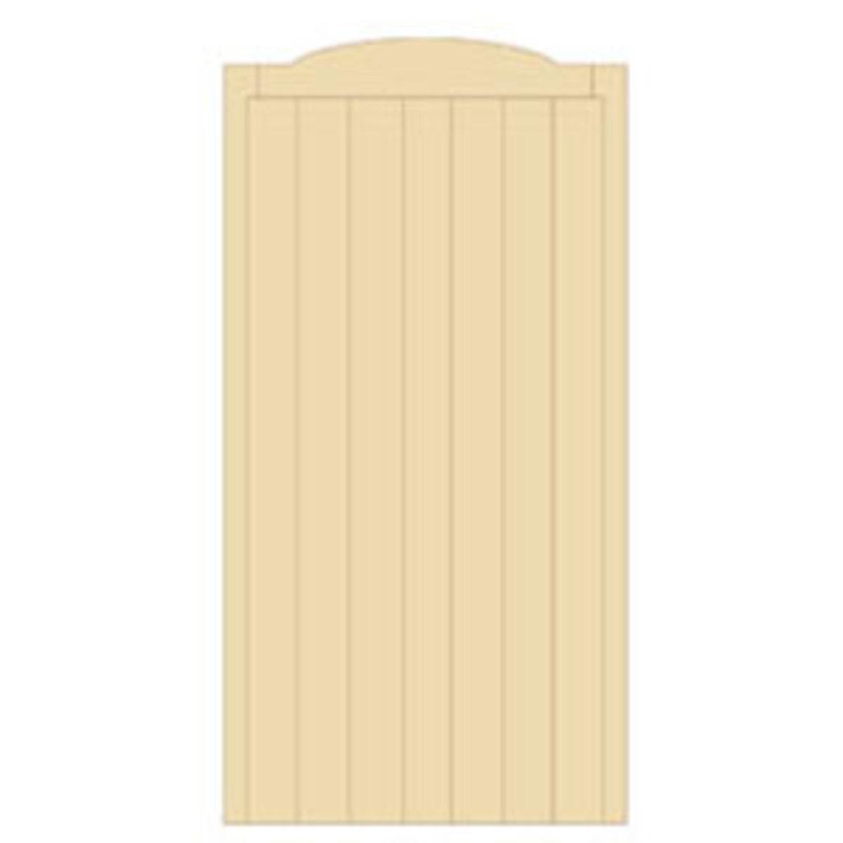 Wooden gates - Tall single side entrance wooden gates - Cherbourne gate