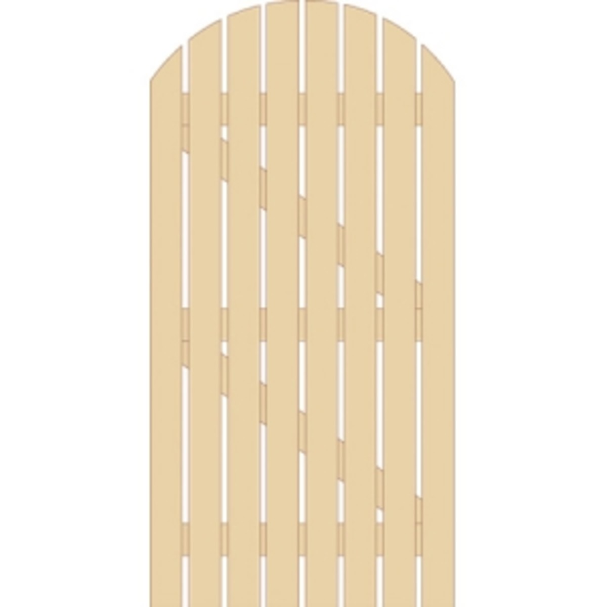 Wooden gates - Tall single side entrance wooden gates - Dorset bow top gate