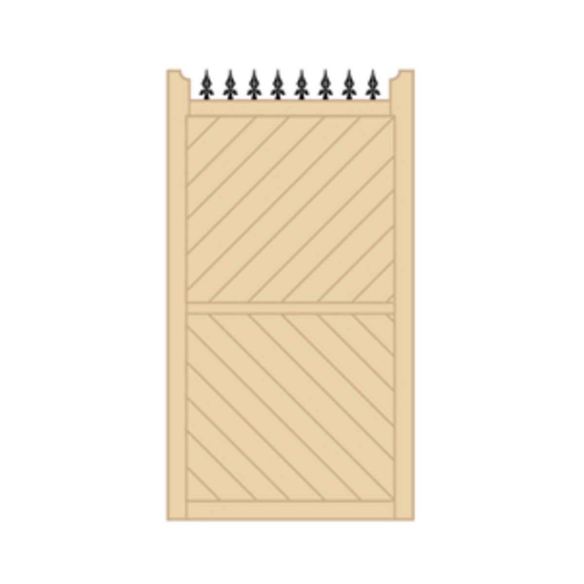 Wooden gates - Tall single side entrance wooden gates - Parquetry side gate