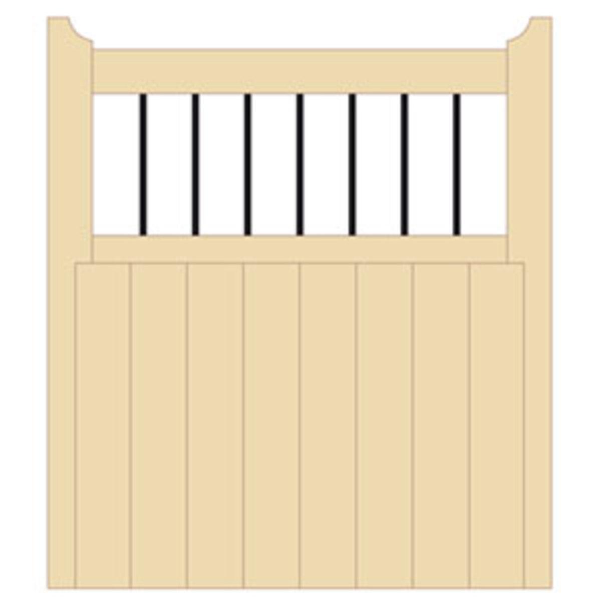 Wooden gates - Single wooden gates - Bordeaux gate