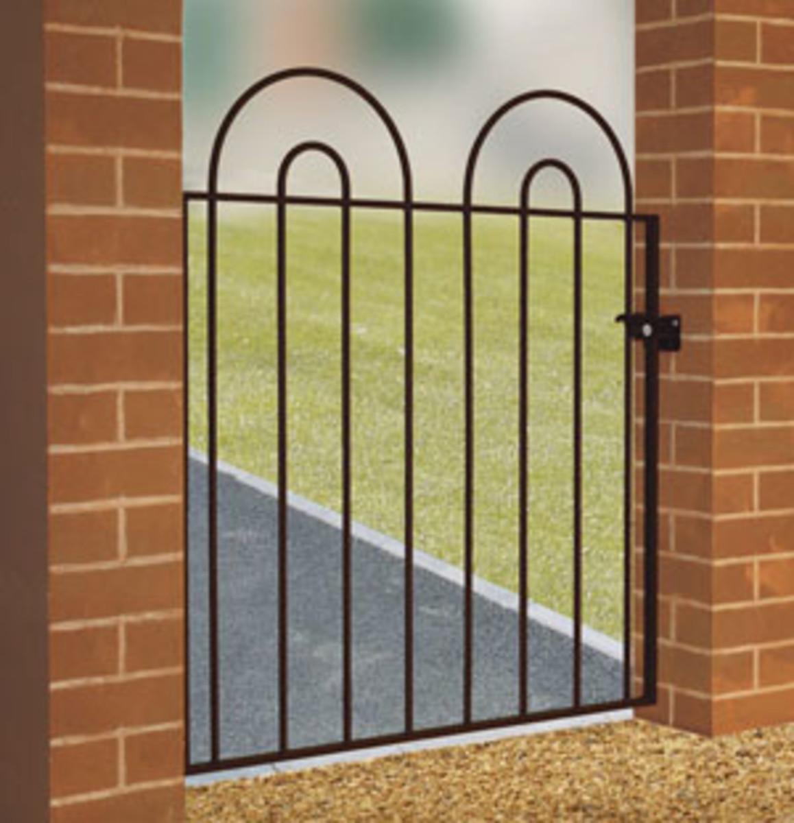 Wrought Iron gates - Single iron gates - Priory double hoop gate
