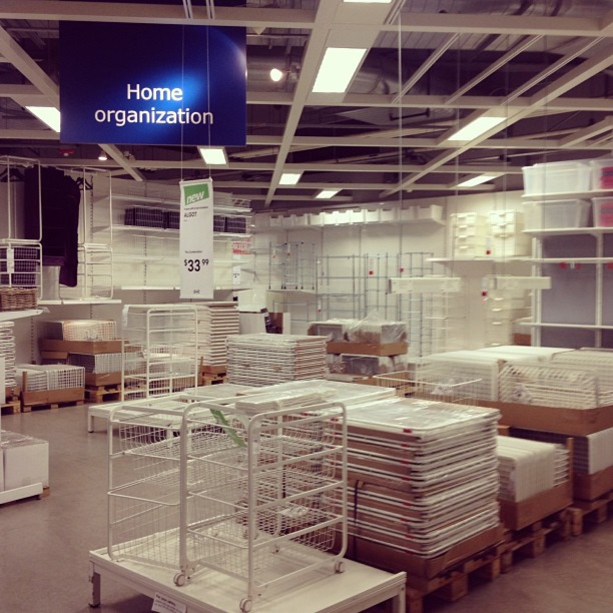 IKEA is the only place you'll find a closet in Europe.