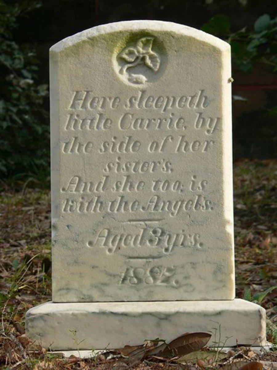 The gravesite of carrie near washington north carolina