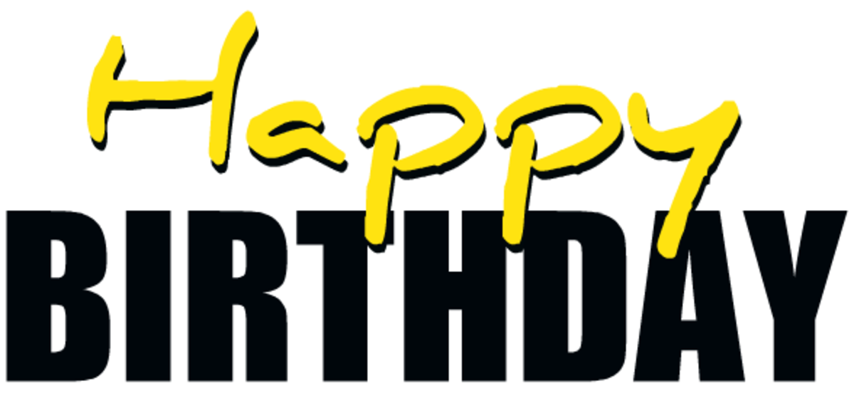 Yellow happy birthday clip-art